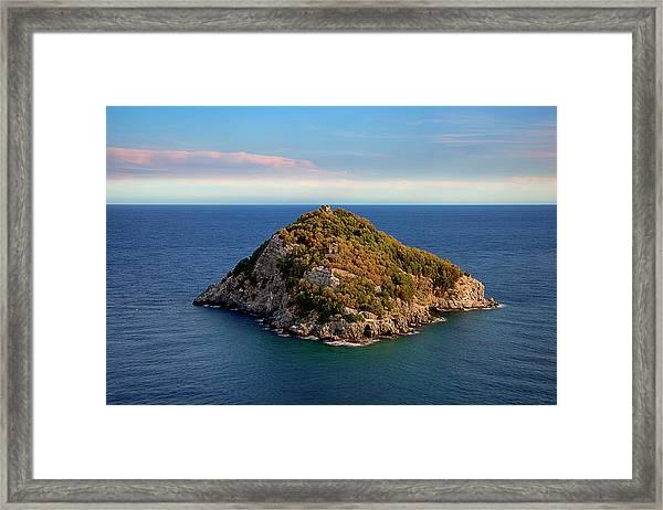 Bergeggi Island Framed Print