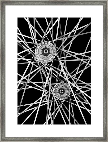 Bicycle Hubs And Spokes Framed Print