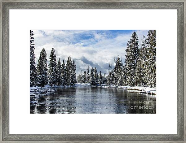 Big Springs In Winter Idaho Journey Landscape Photography By Kaylyn Franks Framed Print
