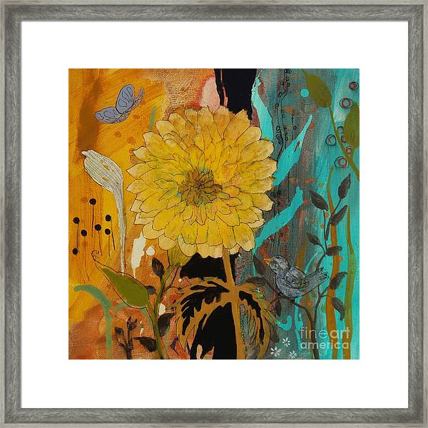 Big Yella Framed Print