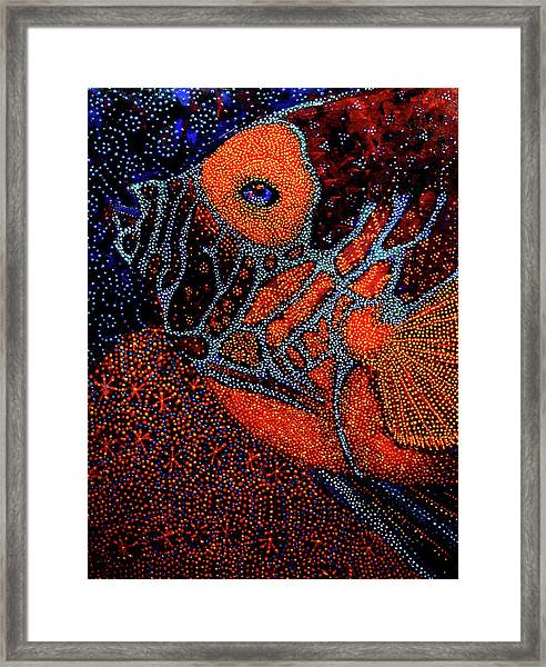 Dreamtime Blue Angel Framed Print