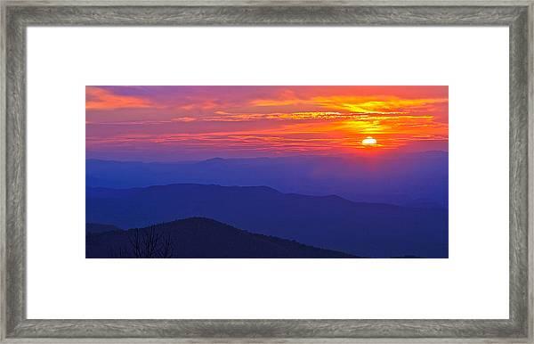 Blue Ridge Parkway Sunset, Va Framed Print