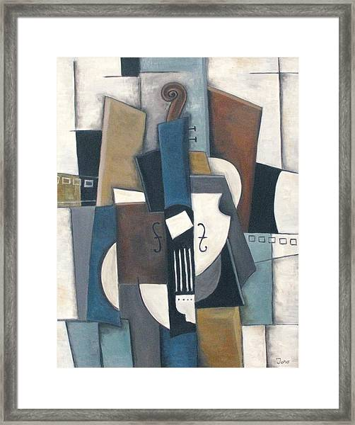Blue Violin Framed Print