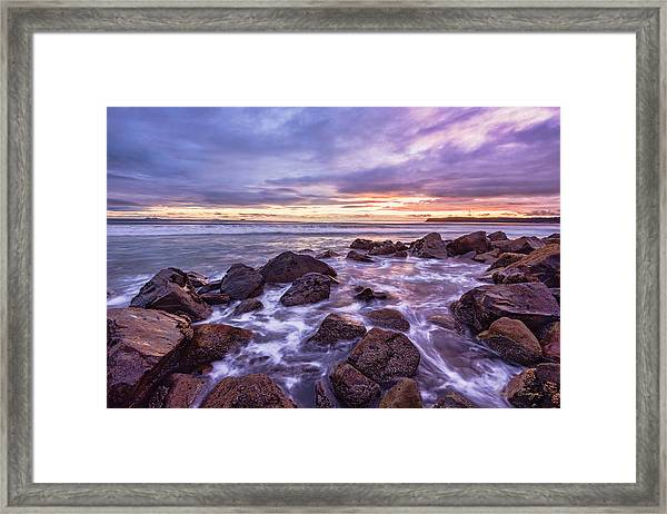 Blueberry Sea Framed Print