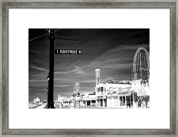 1 Boardwalk Mile At Ocean City Infrared Framed Print by John Rizzuto