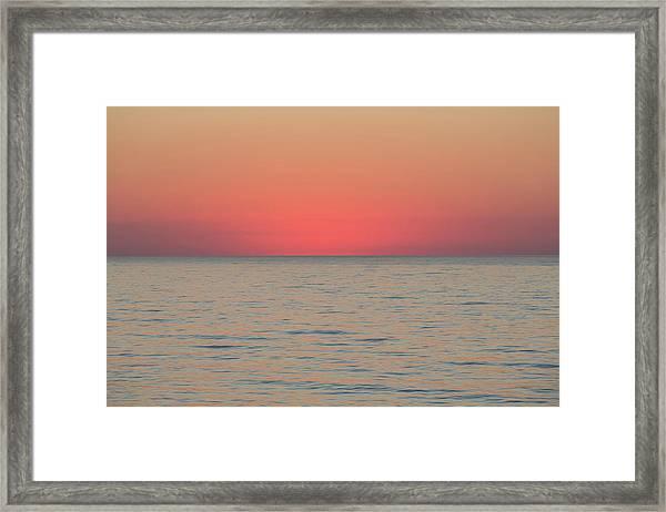 Boiling The Ocean Framed Print