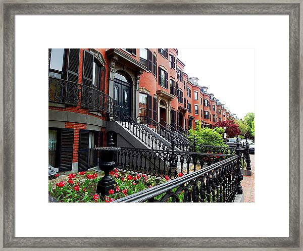 Boston's South End Framed Print
