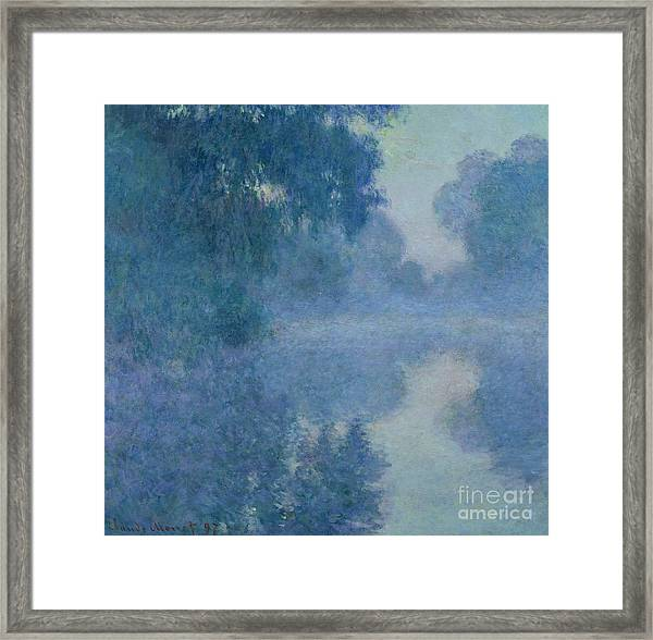 Branch Of The Seine Near Giverny Framed Print