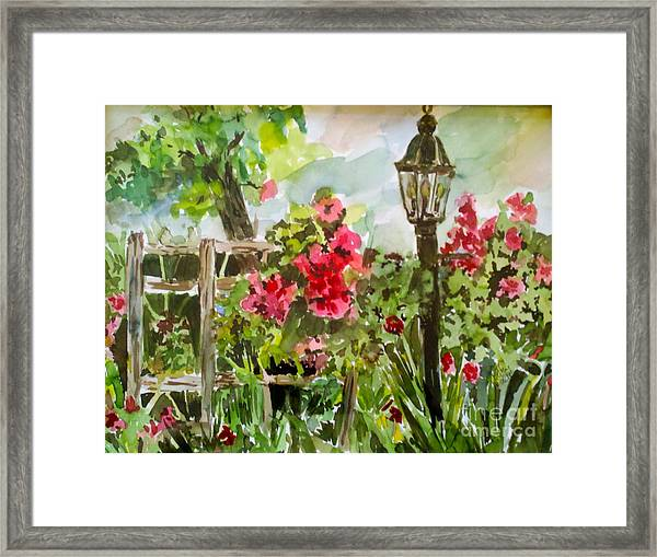 Brazos Gardens Framed Print