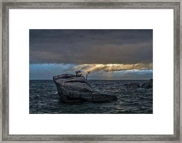 Breaking Light Framed Print
