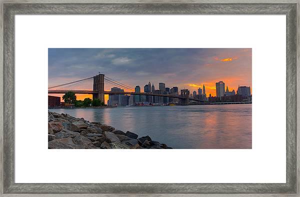 Brooklyn Sunset Framed Print