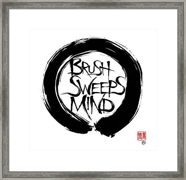 Brush Sweeps Mind Framed Print