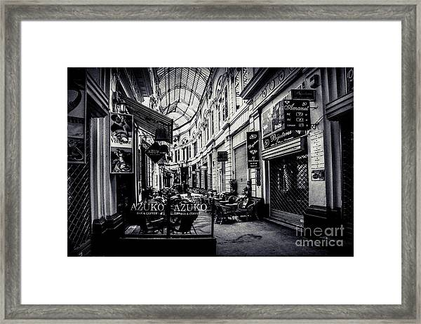 Monochrome Bucharest  Macca - Vilacrosse Passage Framed Print
