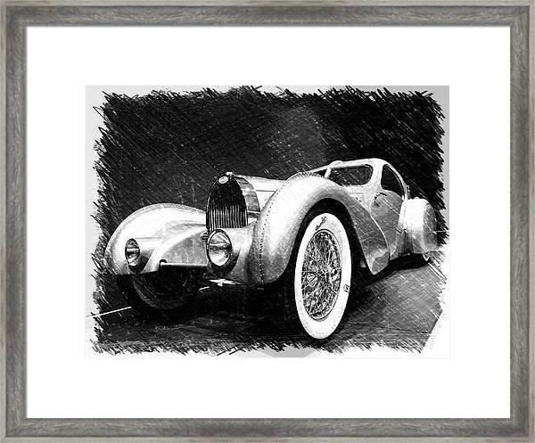 Bugatti Type 57 Aerolithe Framed Print