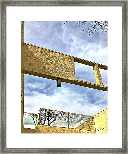 Building Framed Print by Gillis Cone