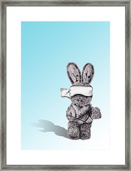 Bunny Bondage Framed Print