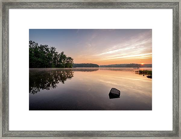 Burke Lake Reflection Framed Print by Michael Donahue