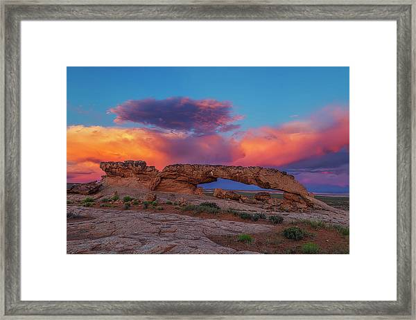 Burning Skies Framed Print