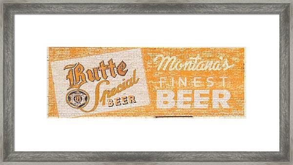 Butte Special Beer Ghost Sign Framed Print
