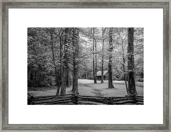 Cabin In Cades Cove Framed Print
