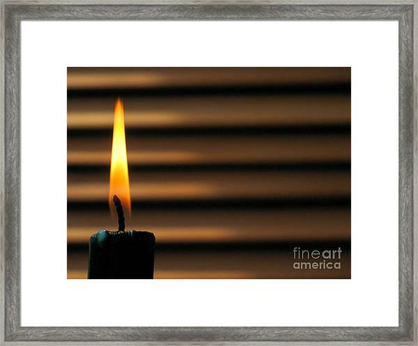 Candle Framed Print