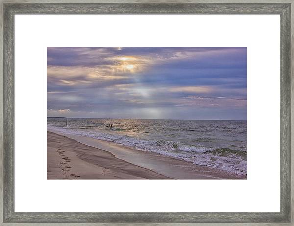 Cape May Beach Framed Print