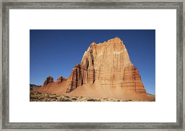 Capitol Reef National Park Temple Of The Sun Framed Print by Mark Smith