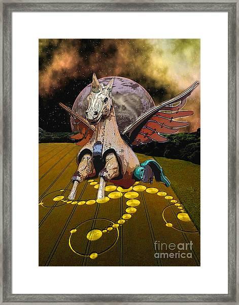Carousel Flight  Framed Print