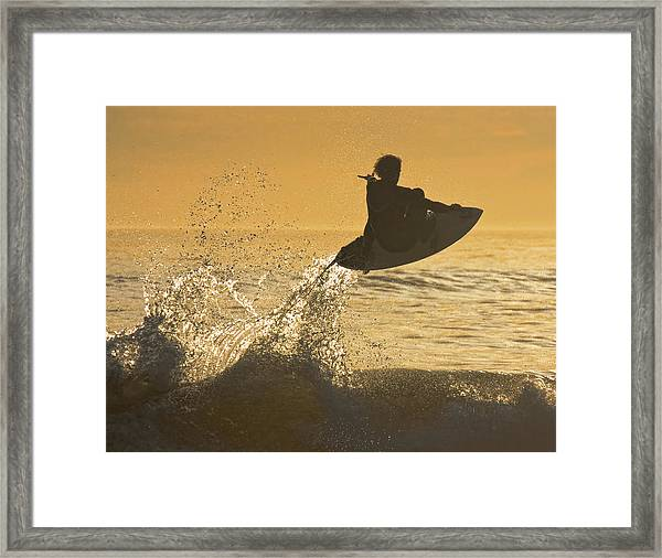 Catching Air Framed Print