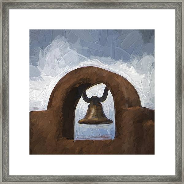 Chapel Bell Chimayo Painterly Effect Framed Print