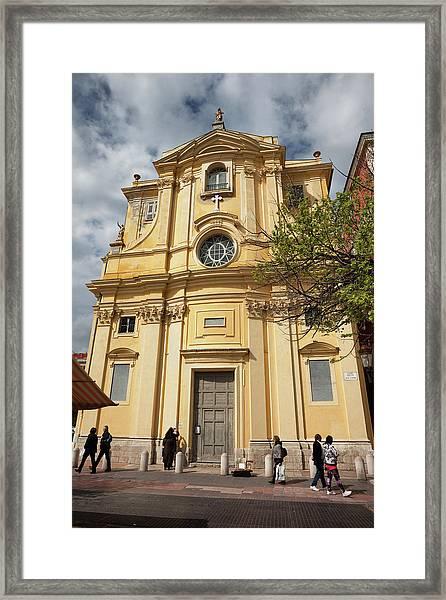 Chapelle De La Misericorde In Nice Framed Print by Artur Bogacki
