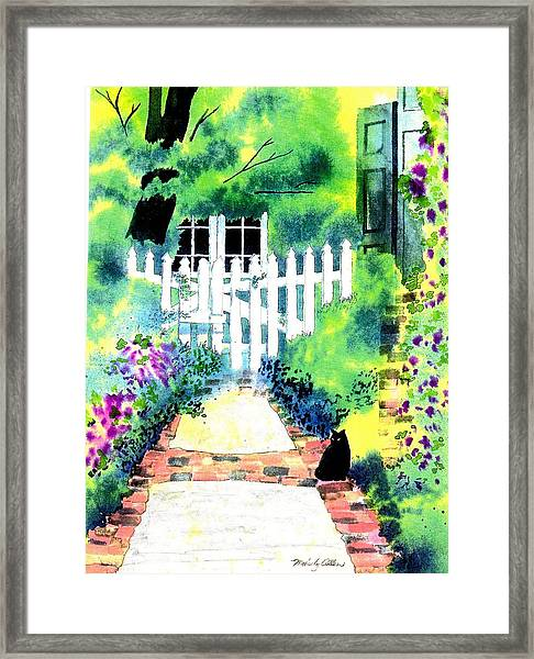 Charleston Gate Framed Print by Melody Allen