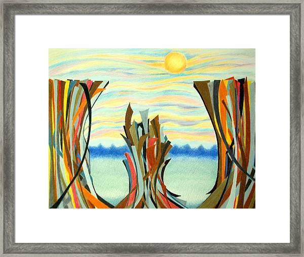 Chasm Framed Print by Sharon Blanchard