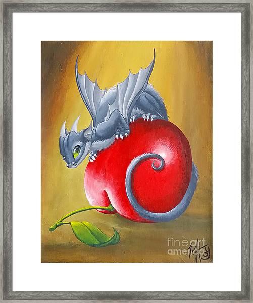Cherry Dragon Framed Print