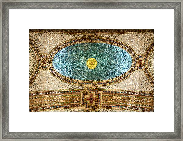 Chicago Cultural Center Ceiling Framed Print