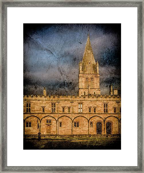 Framed Print featuring the photograph Oxford, England - Christ Church College by Mark Forte