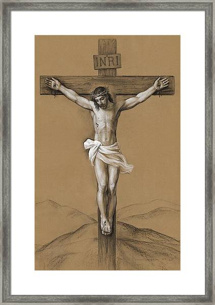 Christ Crucified Framed Print by Svitozar Nenyuk