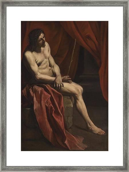 Christ Mocked Framed Print