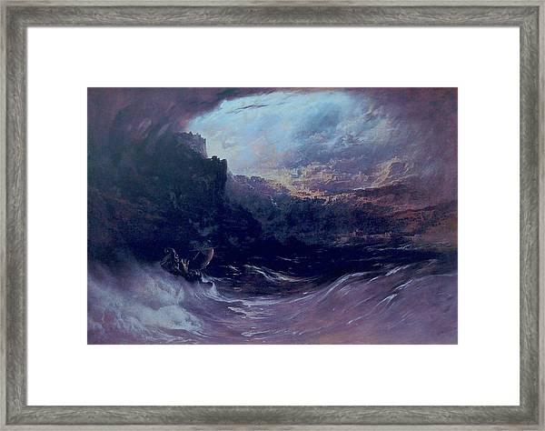 Christ Stilleth The Tempest Framed Print
