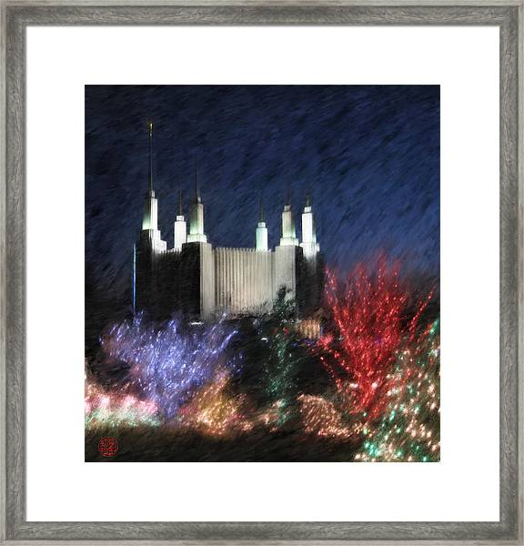 Christmas At The Temple Framed Print