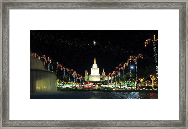 Christmas On Temple Hill Framed Print