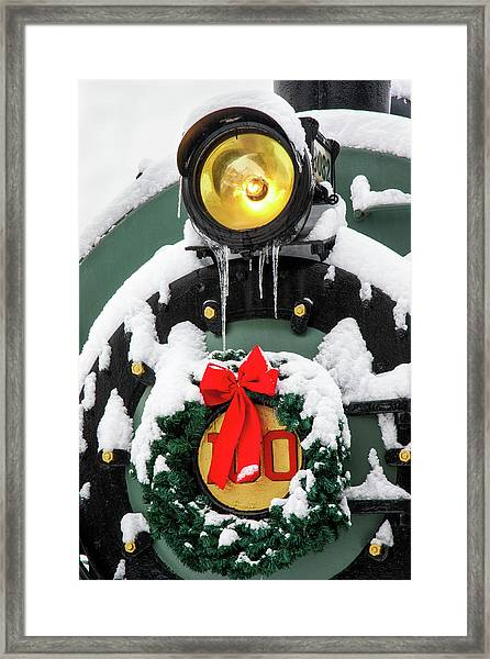 Christmas Train At Pacific Junction Framed Print