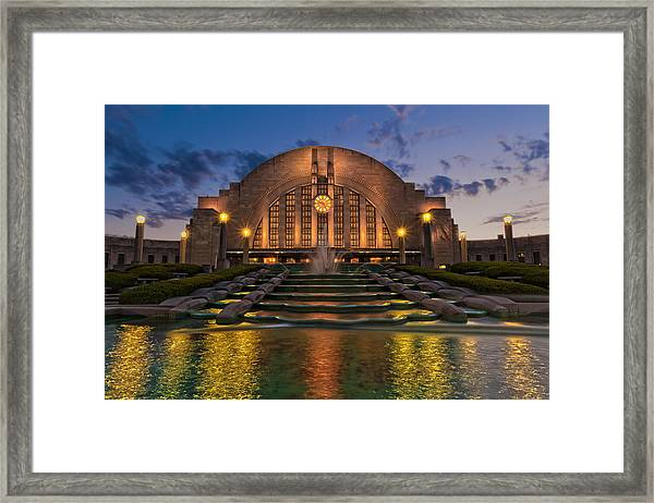Cincinnati Museum Center At Twilight Framed Print