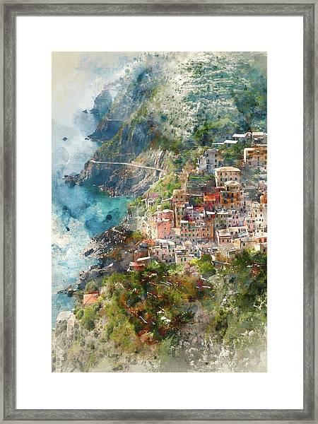 Cinque Terre In Italy Framed Print