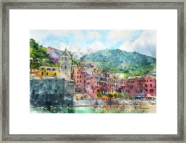 Cinque Terre Italy Framed Print