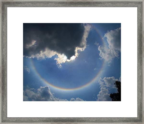 Circular Rainbow Framed Print