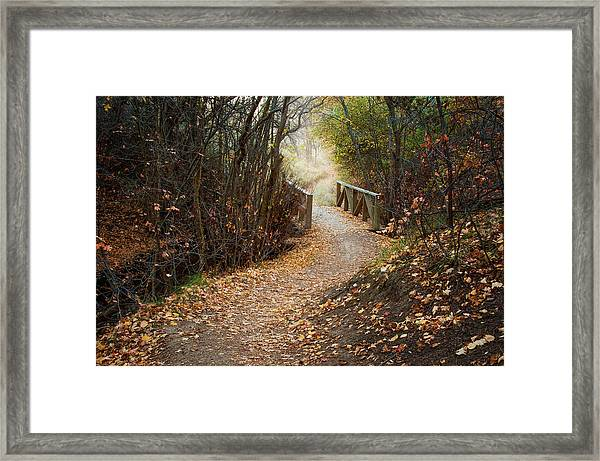 City Creek Bridge Framed Print