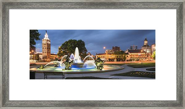 City Of Fountains Framed Print