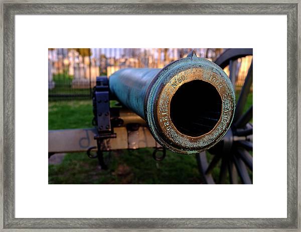 Civil War Cannon 1862 In Gettysburg Pa Framed Print
