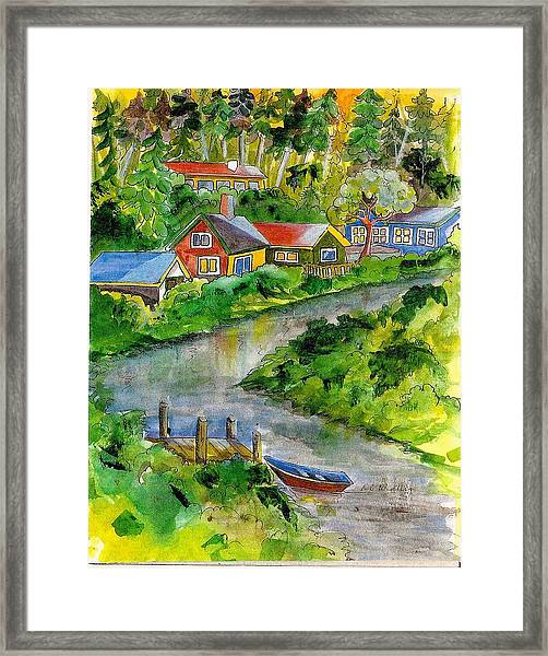 Clallam River Framed Print by KC Winters